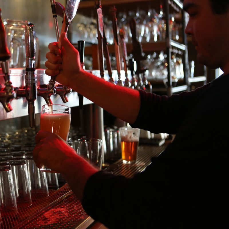 smooth tap pours meet smooth tasting beer at steamworks restaurant in durango co